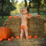Fall Themed Baby Portrait
